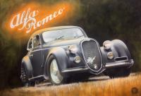 J R Alfa Romeo hold car Canvas