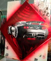 Hennessy Viper GT airbrush by Rudy Sanchez