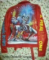 Danielle Vergne Leather jacket Iron Maiden