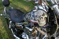 Skull bike finished by Gary Zuyus